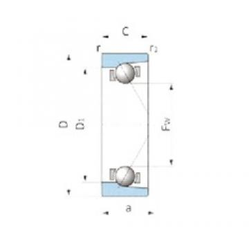 NSK VTAA19Z-3A angular contact ball bearings