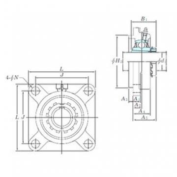 KOYO UKFS318 bearing units