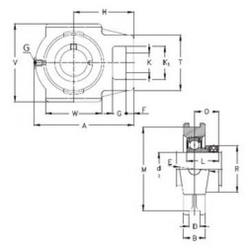120 mm x 32 mm x 70 mm  NKE RTUE 120 bearing units