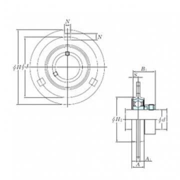 KOYO SAPF204 bearing units