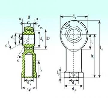 30 mm x 55 mm x 37 mm  ISB TSF 30 C plain bearings