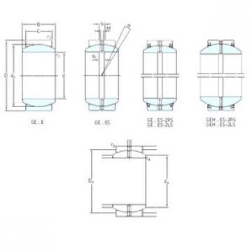 240 mm x 340 mm x 140 mm  SKF GE240ES-2LS plain bearings