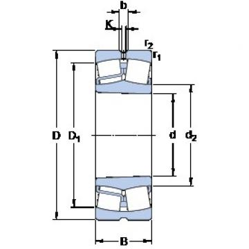 100 mm x 215 mm x 47 mm  SKF 21320 EK spherical roller bearings
