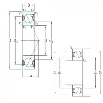 65 mm x 120 mm x 23 mm  SKF SS7213 CD/P4A angular contact ball bearings