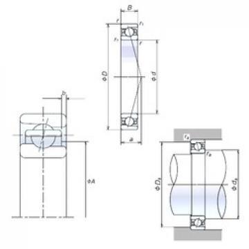 110 mm x 170 mm x 28 mm  NSK 110BNR10H angular contact ball bearings