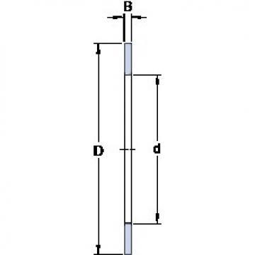 75 mm x 100 mm x 1 mm  SKF AS 75100 thrust roller bearings