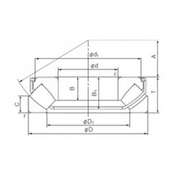 80 mm x 170 mm x 36 mm  NACHI 29416EX thrust roller bearings