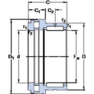SKF NKXR 30 cylindrical roller bearings