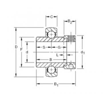 28,575 mm x 62 mm x 36,51 mm  Timken SM1102KB deep groove ball bearings