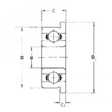 6 mm x 13 mm x 3,5 mm  FBJ F686 deep groove ball bearings