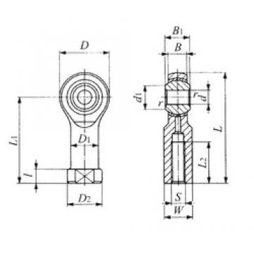 IKO PHSB 12 plain bearings