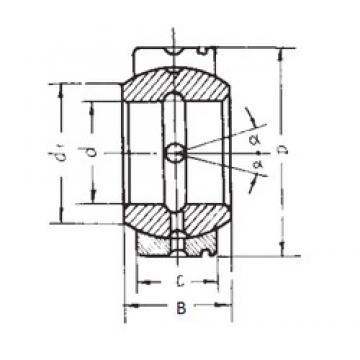 22 mm x 37 mm x 19 mm  FBJ GE22XS/K plain bearings