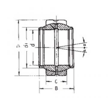 40 mm x 62 mm x 40 mm  FBJ GEEW40ES plain bearings