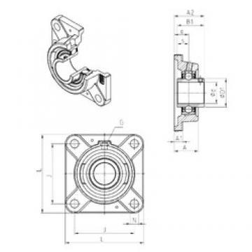 SNR UCFE202 bearing units