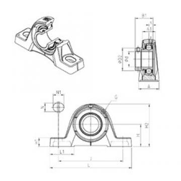 SNR ESPE208 bearing units