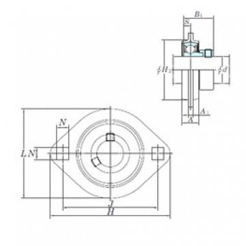 KOYO SAPFL207-21 bearing units