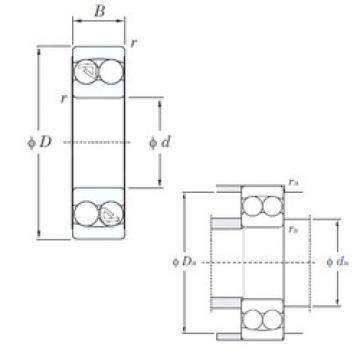 20 mm x 52 mm x 15 mm  KOYO 1304 self aligning ball bearings