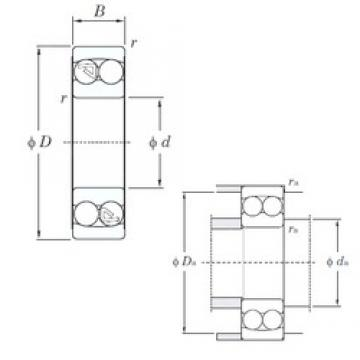55 mm x 120 mm x 29 mm  KOYO 1311 self aligning ball bearings