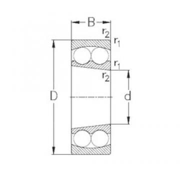 55 mm x 120 mm x 29 mm  NKE 1311-K self aligning ball bearings