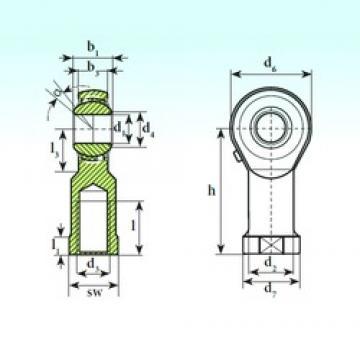 ISB TSF 08 BB-O self aligning ball bearings