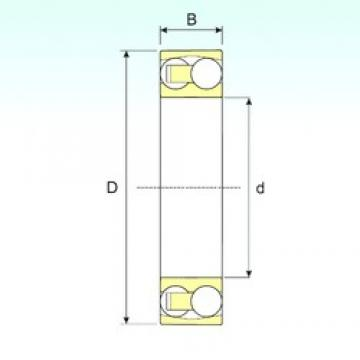 100 mm x 180 mm x 34 mm  ISB 1220 self aligning ball bearings