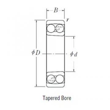 30 mm x 72 mm x 19 mm  NSK 1306 K self aligning ball bearings