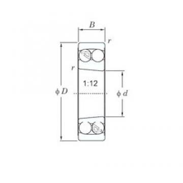 35 mm x 72 mm x 23 mm  KOYO 2207K self aligning ball bearings