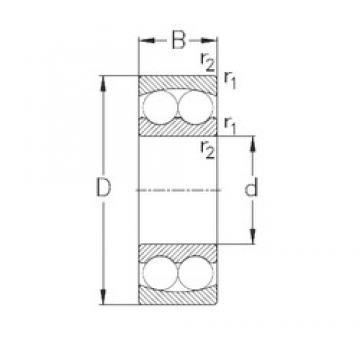 110 mm x 200 mm x 38 mm  NKE 1222 self aligning ball bearings