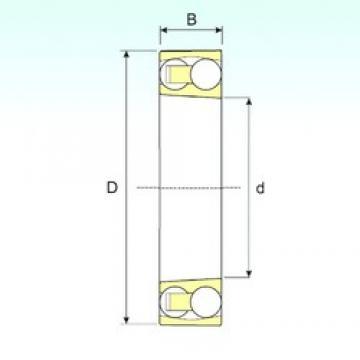 120 mm x 215 mm x 42 mm  ISB 1224 KM self aligning ball bearings