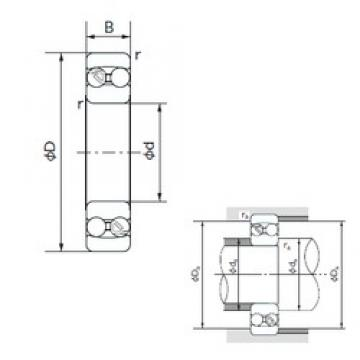 110 mm x 200 mm x 38 mm  NACHI 1222 self aligning ball bearings