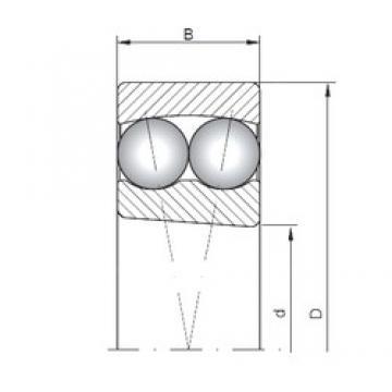 30 mm x 62 mm x 20 mm  ISO 2206K self aligning ball bearings