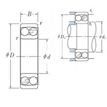 100 mm x 215 mm x 73 mm  NSK 2320 self aligning ball bearings