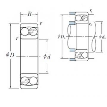80 mm x 140 mm x 26 mm  NSK 1216 self aligning ball bearings