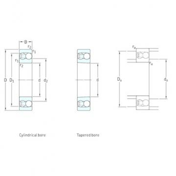 25 mm x 52 mm x 15 mm  SKF 1205ETN9 self aligning ball bearings