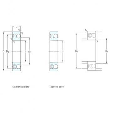 75 mm x 130 mm x 25 mm  SKF 1215 self aligning ball bearings