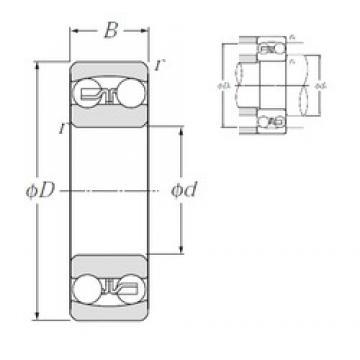 10 mm x 30 mm x 9 mm  NTN 1200S self aligning ball bearings