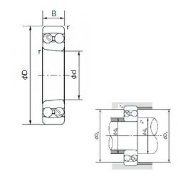 65 mm x 140 mm x 33 mm  NACHI 1313K self aligning ball bearings