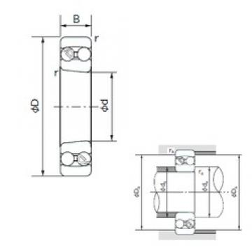 75 mm x 160 mm x 55 mm  NACHI 2315K self aligning ball bearings