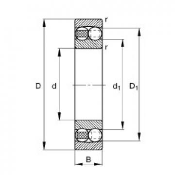 12 mm x 32 mm x 10 mm  FAG 1201-TVH self aligning ball bearings