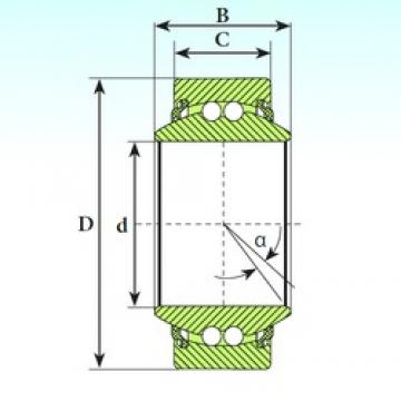 20 mm x 35 mm x 16 mm  ISB GE 20 BBL self aligning ball bearings