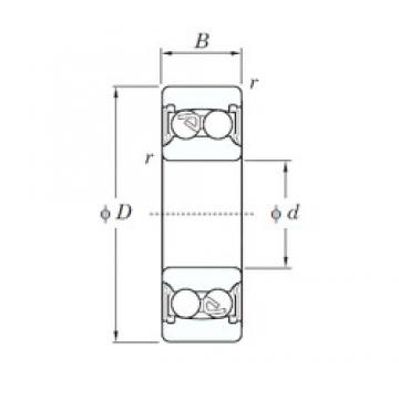 60 mm x 110 mm x 28 mm  KOYO 2212-2RS self aligning ball bearings