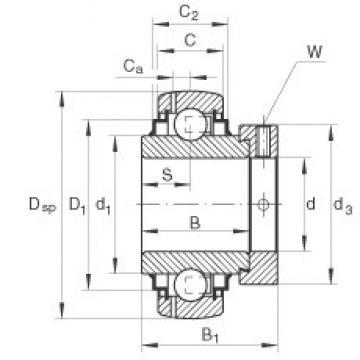 INA GE25-KRR-B-FA125.5 deep groove ball bearings