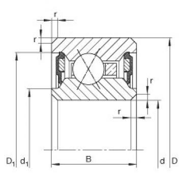 9 inch x 247,65 mm x 12,7 mm  INA CSXU090-2RS deep groove ball bearings