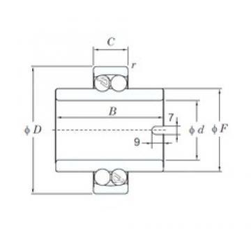 20 mm x 47 mm x 40 mm  KOYO 11204 self aligning ball bearings