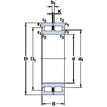 220 mm x 270 mm x 50 mm  SKF NNC 4844 CV cylindrical roller bearings