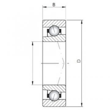 ISO 71819 C angular contact ball bearings