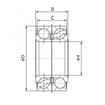 38 mm x 74 mm x 36 mm  NACHI 38BVV07-26G angular contact ball bearings