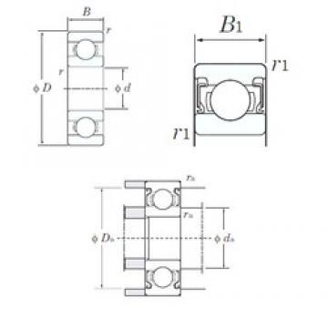 4 mm x 13 mm x 5 mm  KOYO 624-2RS deep groove ball bearings