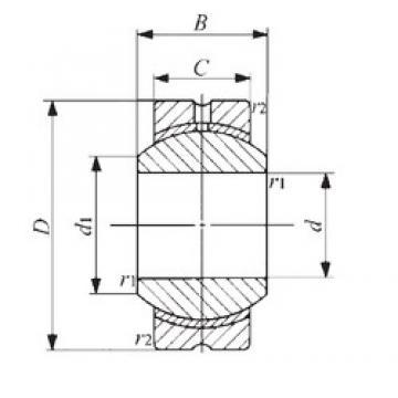 16 mm x 38 mm x 21 mm  IKO PB 16 plain bearings