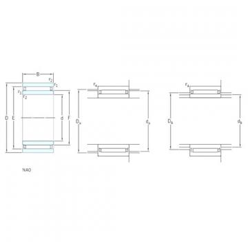 90 mm x 120 mm x 30 mm  SKF NAO90x120x30 needle roller bearings
